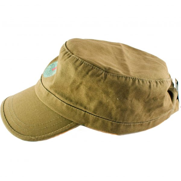 side view of the republic of liverpool green hat